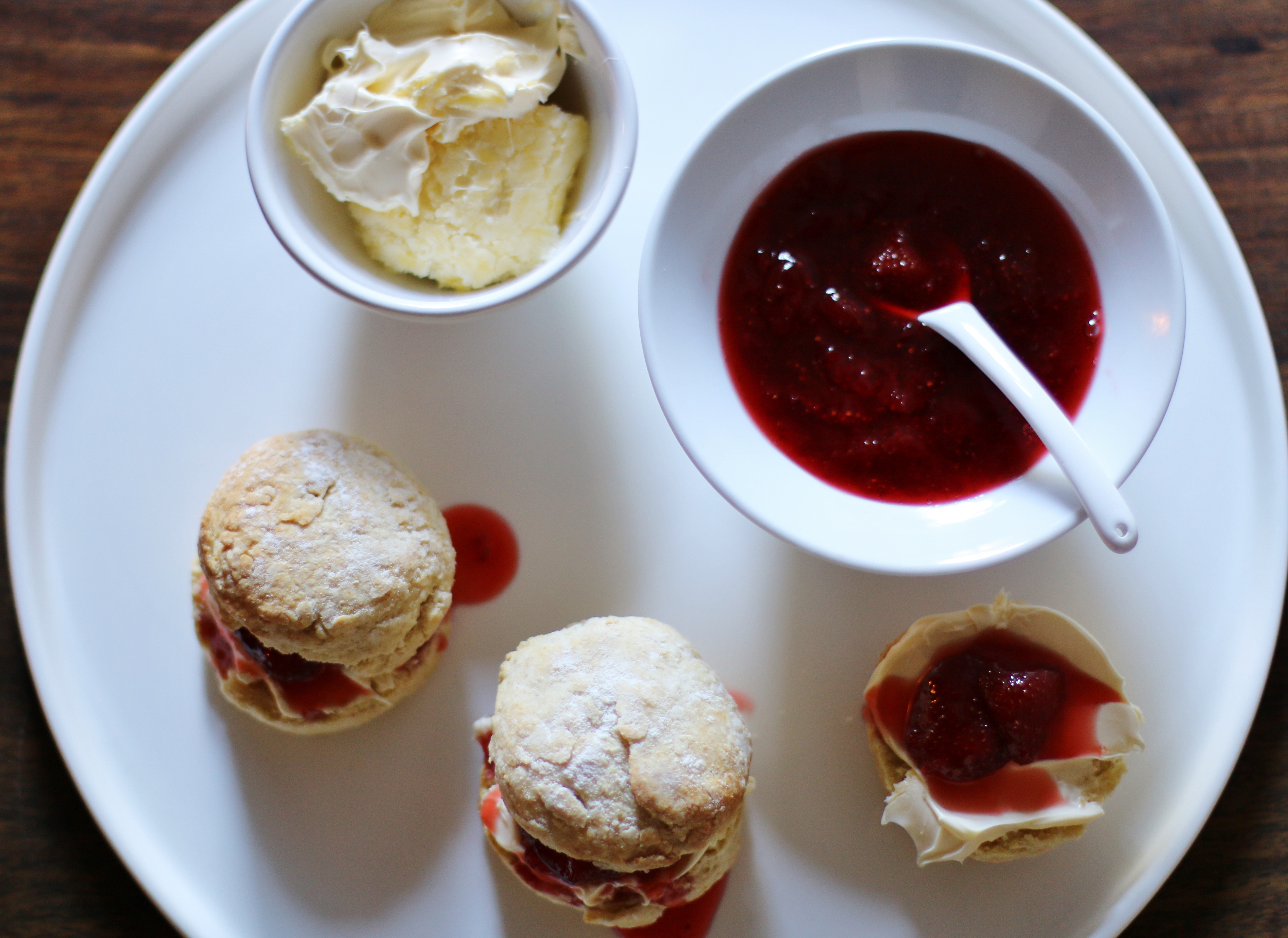 Scones With Strawberry Jam Clotted Cream Cygnet Kitchen