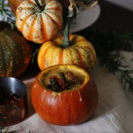 Pumpkin Soup with Rosemary & Bacon
