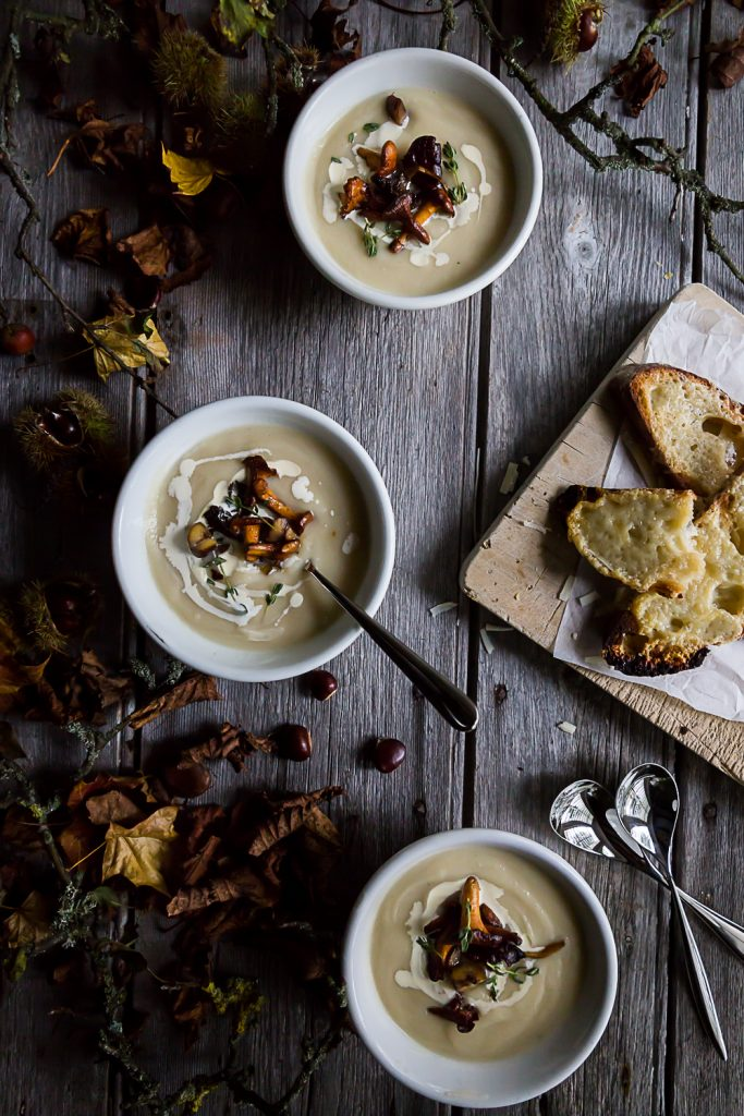 Celeriac & Apple Soup with Wild Mushrooms and Chestnuts | Cygnet Kitchen