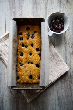 Wild Blackberry & Lemon Cake with Blackberry Fool | Cygnet Kitchen