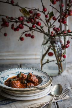 Braised Slow Braised Pork with Chorizo, Thyme & Black Olives | Cygnet Kitchen