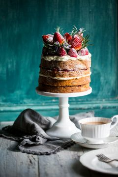 Buckwheat Cake with Berry Compote | Cygnet Kitchen